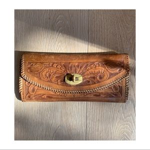 Vintage Hand Tooled Leather Wallet